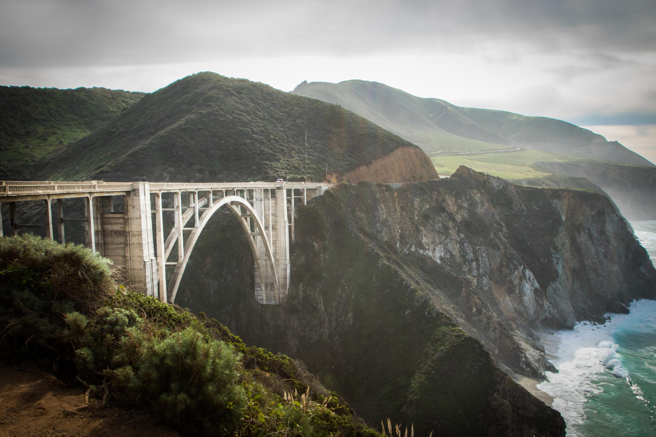 Bixby Bridge on the Pacific Coast Highway in Big Sur California Not So SAHM