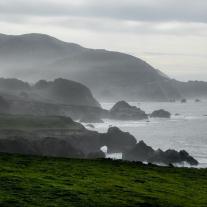Haze hugs the Big Sur Coast along the Pacific Coast Highway south of Carmel California Not So SAHM