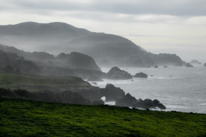 Haze hugs the Big Sur Coast along the Pacific Coast Highway south of Carmel California Not So SAHM