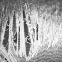 Close up abstract of a plastic lamp shade Not So SAHM
