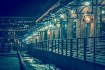 Nighttime at American Tobacco Campus in Durham, North Carolina NotSoSAHM
