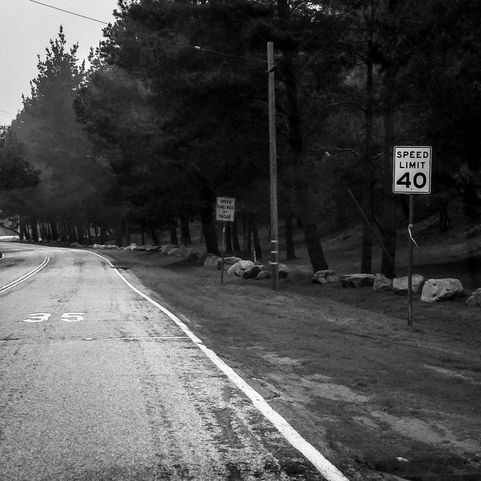 Speed limit confusion on a road in Monterey, California. Road says 35, sign says 40 NotSoSAHM