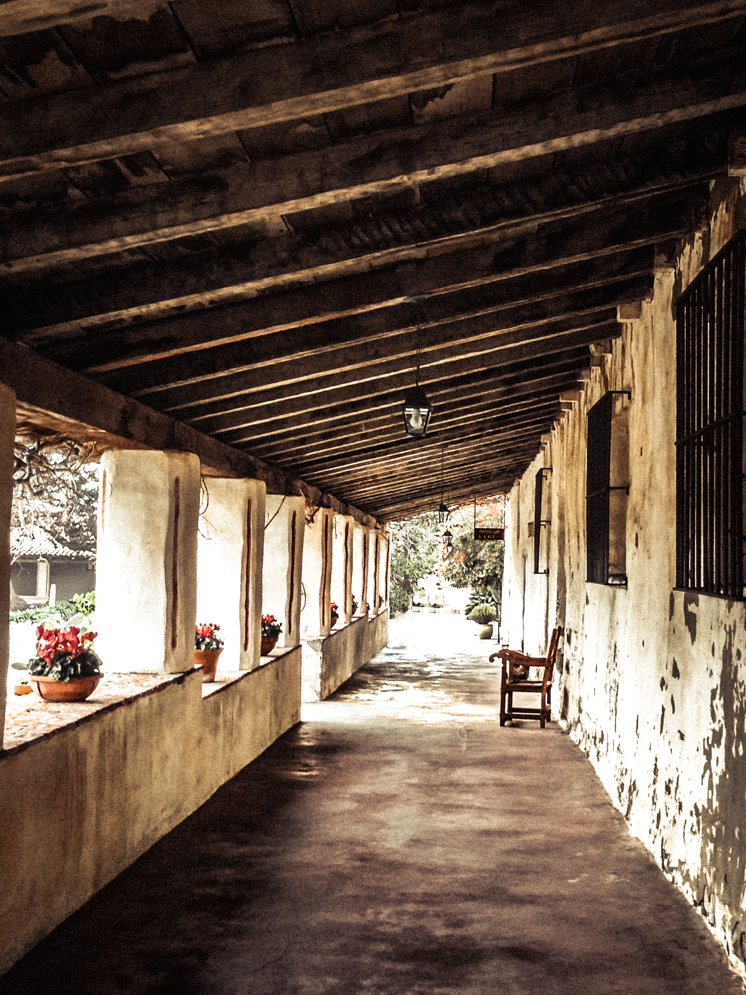 The portico at the Carmel Mission in Carmel By the Sea California NotSoSAHM