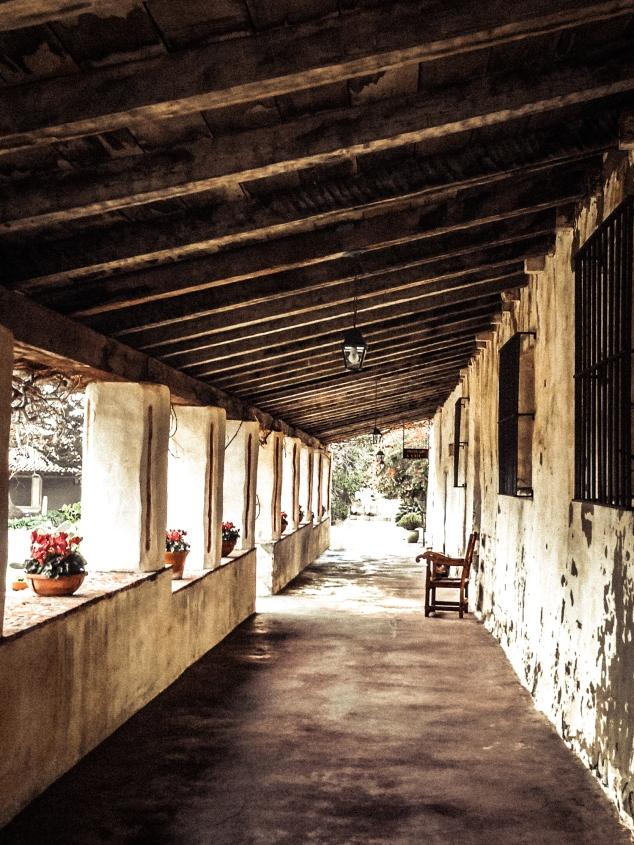 The portico at the Carmel Mission in Carmel By the Sea California NotSoSAHM