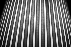 Vertical black and white lines of a lamp shade NotSoSAHM