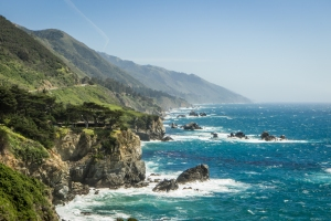 The coastline along the Pacific Coast Highway in the Big Sur area is rugged and beautiful NotSoSAHM
