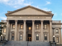 The US Custom House in Charleston stands stately in the setting sun NotSoSAHM