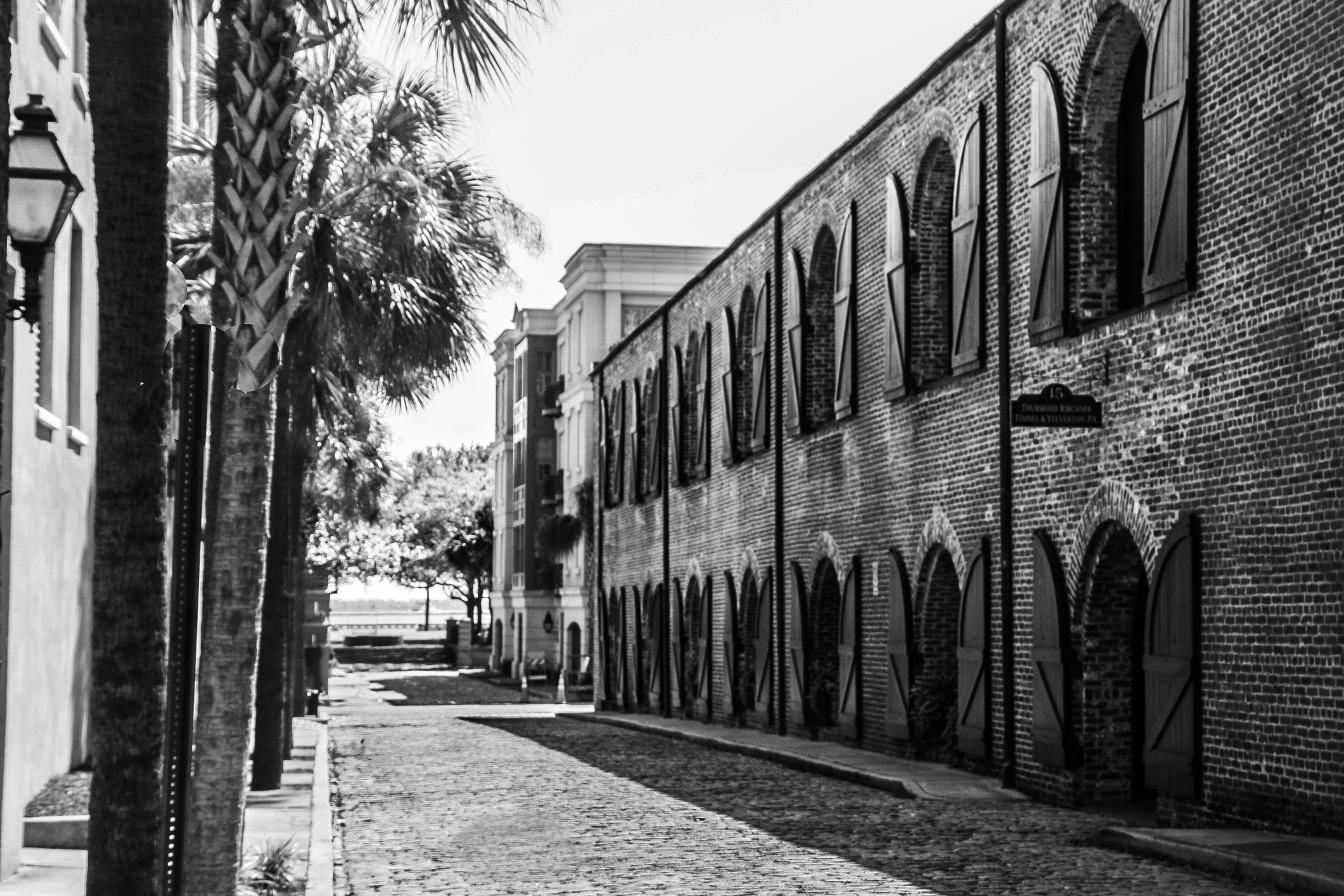 The side streets in Charleston are charming in black and white NotSoSAHM
