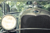 The grill of a 1930 Ford Model A NotSoSAHM