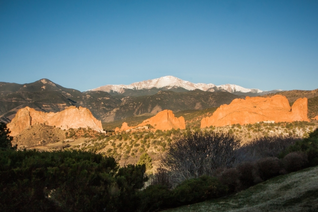 Garden of the Gods sits nestled in front of Pike's Peak in Colorado Springs, CO NotSoSAHM