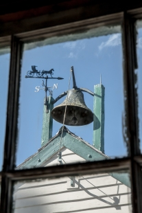 A school bell sits atop an Amish building in Lancaster, PA NotSoSAHM