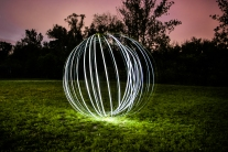 An orb created by light painting photography NotSoSAHM
