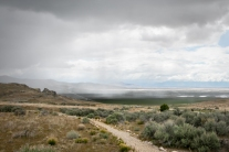 The rains come in on a plain in Utah near Promontory Point NotSoSAHM