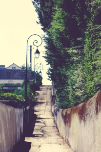 A small street in Amboise leads up the hill to a hospital and cemetery. NotSoSAHM