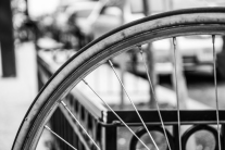 The spokes of a bicycle in black and white Not So SAHM