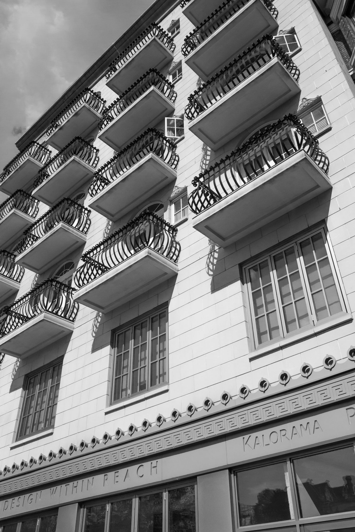 Balconies show off on a Kalorama building in Washington DC Not So SAHM