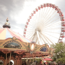 The merry go round and ferris wheel are two rides at the Navy Pier in Chicago Not So SAHM