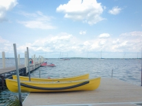Boats rest on a dock at the University of Wisconsin in Madison Not So SAHM