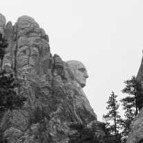 The profile of the bust of George Washington's head at Mount Rushmore in South Dakota Not So SAHM
