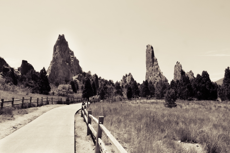 A pathway winds through the rock formations at Garden of the Gods in Colorado Springs, CO Not So SAHM