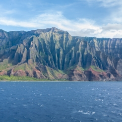 The rugged coastline of Na Pali in Kauai Hawaii Not So SAHM