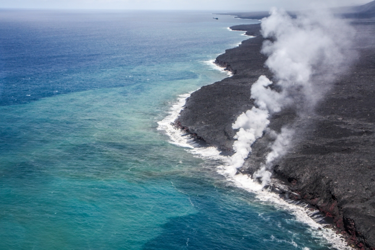 Lava flows into the ocean from the volcano Pu'U 'O'O on Hawaii's Big Island Not So SAHM