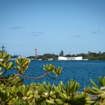 A memorial floats over the USS Arizona in Pearl Harbor Not So SAHM