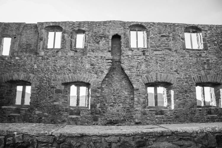The ruins of Burg Lichtenberg in Germany. Not So SAHM