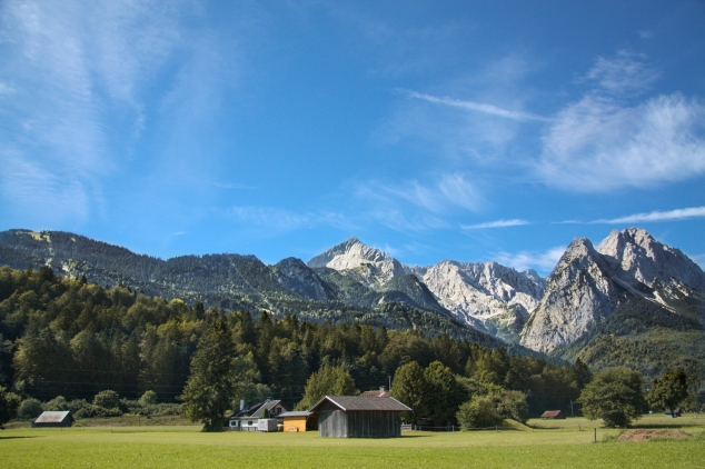 Garmisch-Partenkirchen sits at the base of the Alps. Not So SAHM