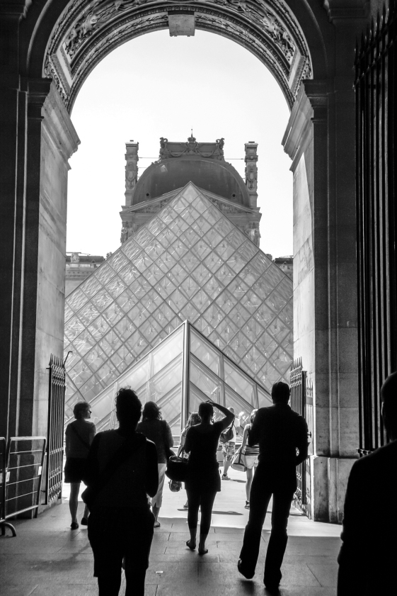 A side view of the Louvre with interesting architectural detail. Not So SAHM