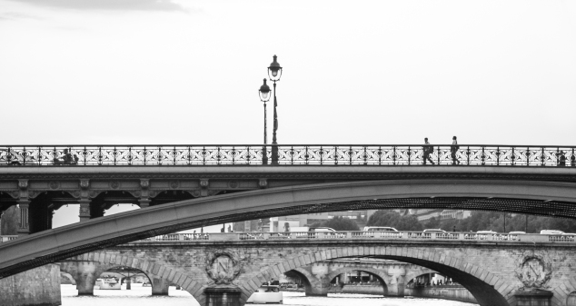 Several bridges cross over the Seine with intricate brick and ironwork. Not So SAHM