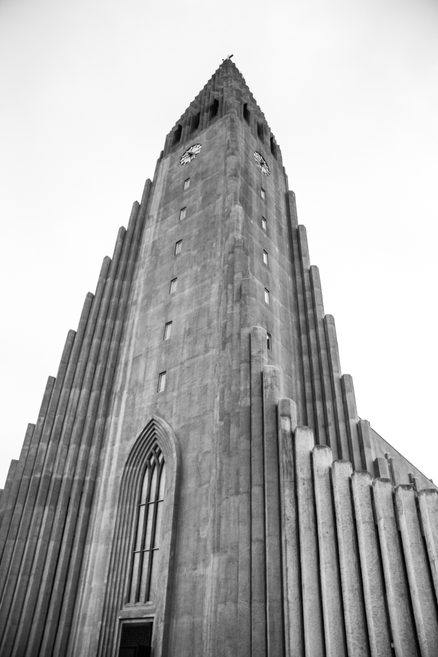 Hallgrimskirkja's wonderful architecture stands tall in Reykjavik, Iceland. NotSoSAHM