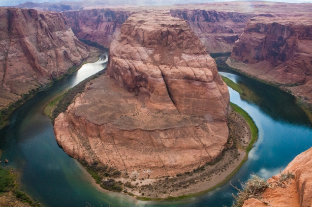 Horseshoe Bend forces the Colorado River to curve around it in Glen Canyon. Not So SAHM