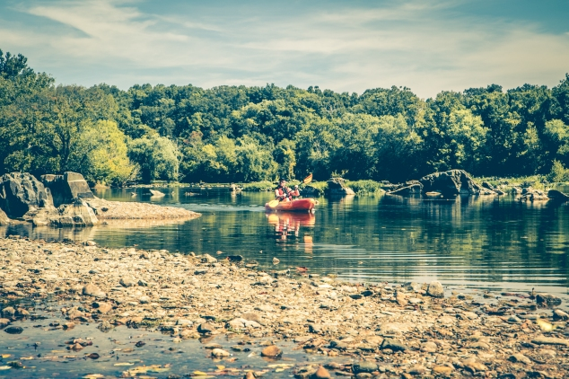 A man floats down the Potomac River at Riverbend Park in Northern Virginia. Not So SAHM