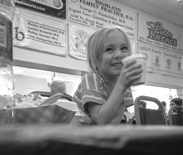 Girl holds styrofoam cup tasting strong coffee. Not So SAHM