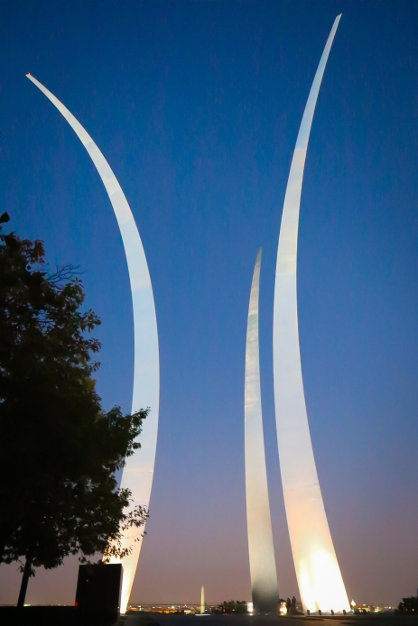 The Air Force Memorial in Arlington, VA. Not So SAHM