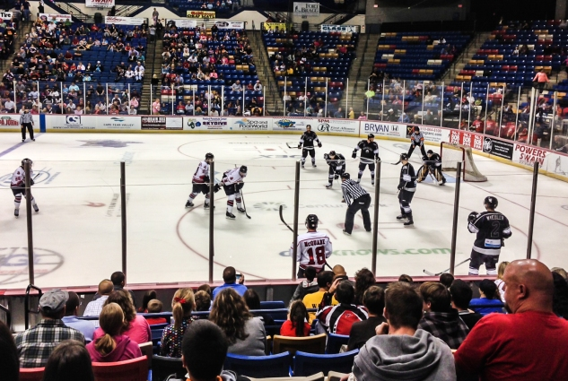 Fayetteville Fire Antz hockey team plays on the ice. Not So SAHM