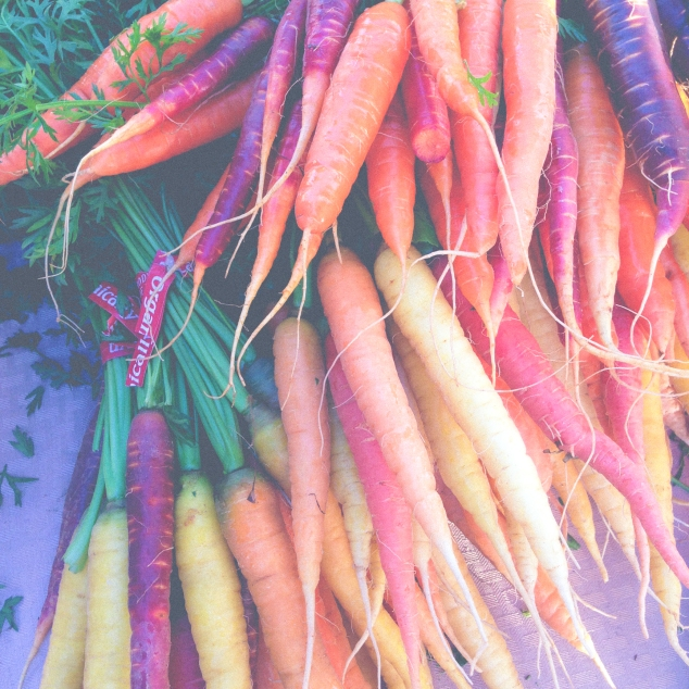 Fresh carrots from a farm stand at the Pacific Grove street market. Not So SAHM