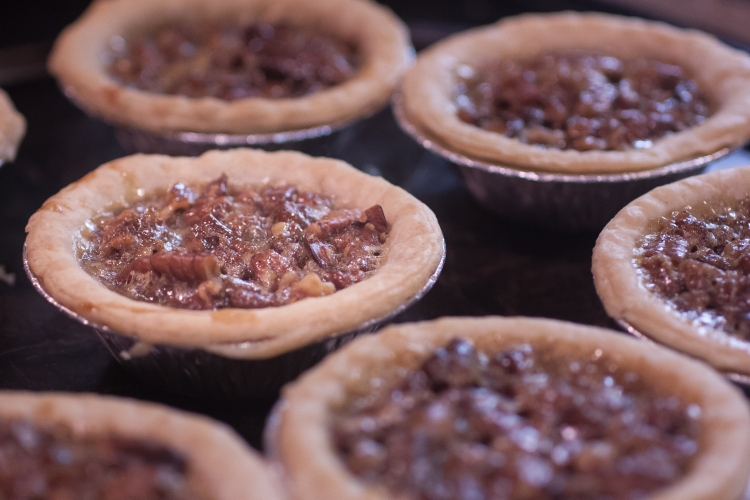 A gathering of mini pies is a holiday treat. Not So SAHM