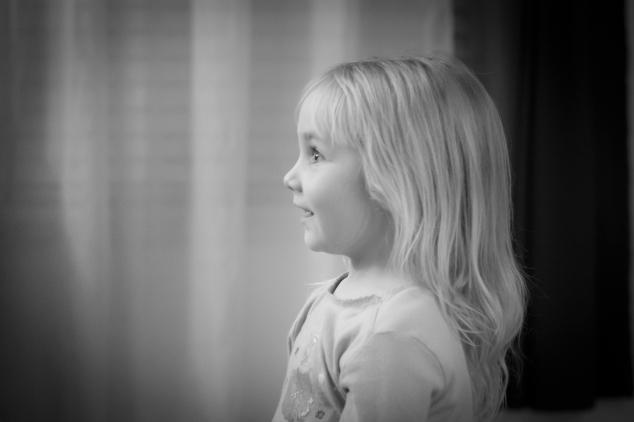 Girl looks on with joy and wonder. NotSoSAHM