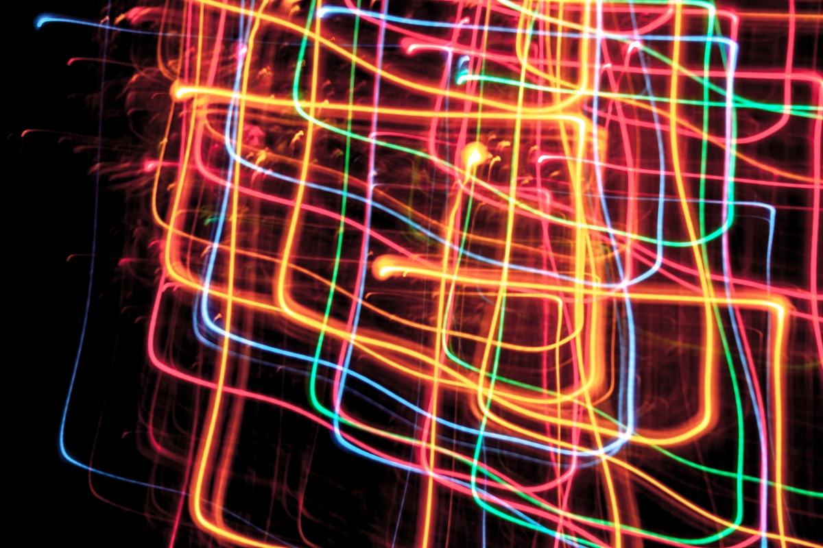Christmas tree lights look like a neon sign. Not So SAHM