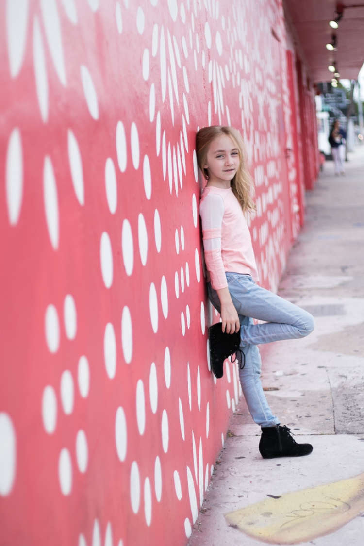 Girl at Wynwood Walls in Miami. Photo by Not So SAHM
